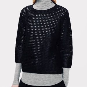 COS Knit Black Coated Jumper Pullover Sweater